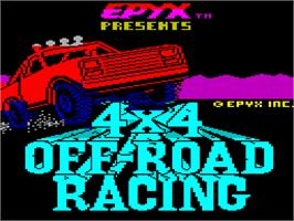 Title screen of 4x4 Off-Road Racing on the Sinclair ZX Spectrum.
