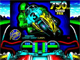 Title screen of 750cc Grand Prix on the Sinclair ZX Spectrum.