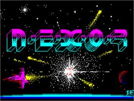 Title screen of A.L.C.O.N. on the Sinclair ZX Spectrum.
