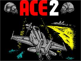 Title screen of ACE 2: The Ultimate Head to Head Conflict on the Sinclair ZX Spectrum.