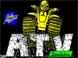 Title screen of ATV Simulator on the Sinclair ZX Spectrum.