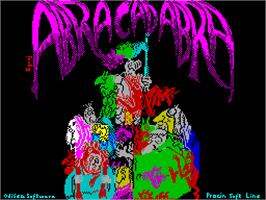 Title screen of Abracadabra on the Sinclair ZX Spectrum.