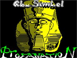 Title screen of Abu Simbel Profanation on the Sinclair ZX Spectrum.