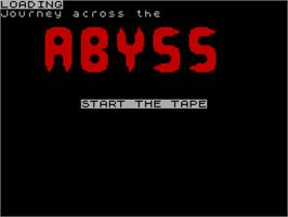 Title screen of Abyss on the Sinclair ZX Spectrum.