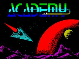 Title screen of Academy: Tau Ceti II on the Sinclair ZX Spectrum.