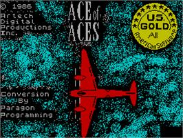 Title screen of Ace of Aces on the Sinclair ZX Spectrum.