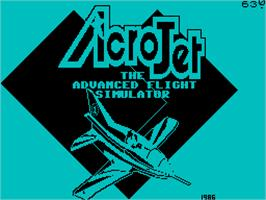 Title screen of Acrojet on the Sinclair ZX Spectrum.