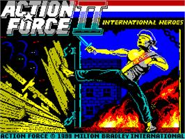 Title screen of Action Force 2 on the Sinclair ZX Spectrum.