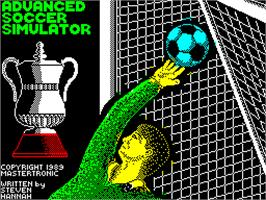 Title screen of Advanced Ski Simulator on the Sinclair ZX Spectrum.