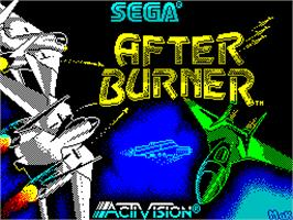 Title screen of After Burner on the Sinclair ZX Spectrum.