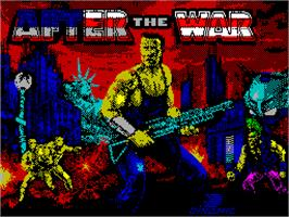 Title screen of After the War on the Sinclair ZX Spectrum.