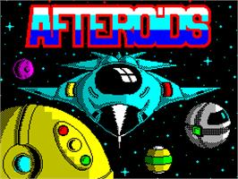 Title screen of Afteroids on the Sinclair ZX Spectrum.