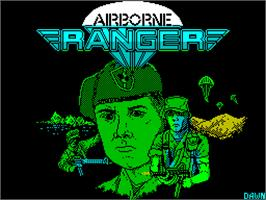 Title screen of Airborne Ranger on the Sinclair ZX Spectrum.