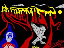 Title screen of Alchemist on the Sinclair ZX Spectrum.