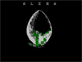 Title screen of Alien on the Sinclair ZX Spectrum.