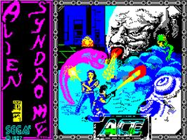 Title screen of Alien Syndrome on the Sinclair ZX Spectrum.