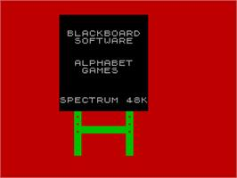 Title screen of Alphabet Zoo on the Sinclair ZX Spectrum.