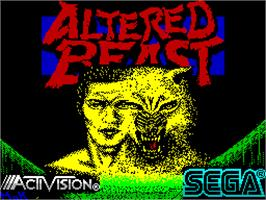 Title screen of Altered Beast on the Sinclair ZX Spectrum.