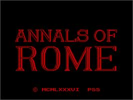 Title screen of Annals of Rome on the Sinclair ZX Spectrum.