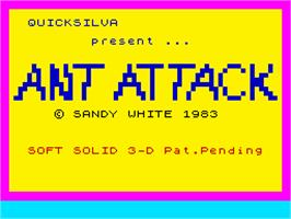 Title screen of Ant Attack on the Sinclair ZX Spectrum.
