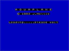 Title screen of Aquaplane on the Sinclair ZX Spectrum.