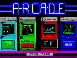 Title screen of Arcade Classics on the Sinclair ZX Spectrum.