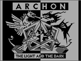 Title screen of Archon: The Light and the Dark on the Sinclair ZX Spectrum.