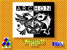 Title screen of Archon II: Adept on the Sinclair ZX Spectrum.