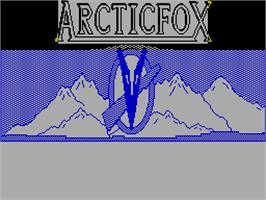Title screen of Arcticfox on the Sinclair ZX Spectrum.