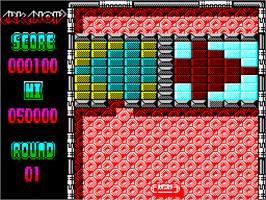 Title screen of Arkanoid 2: Revenge of Doh on the Sinclair ZX Spectrum.