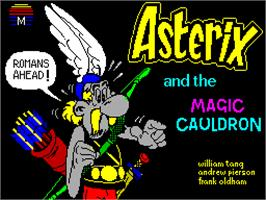 Title screen of Asterix and the Magic Cauldron on the Sinclair ZX Spectrum.