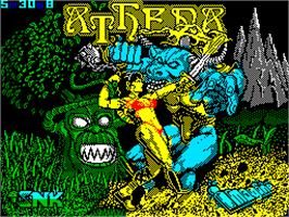 Title screen of Athena on the Sinclair ZX Spectrum.