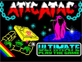 Title screen of Atic Atac on the Sinclair ZX Spectrum.