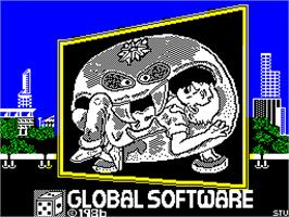 Title screen of Attack of the Killer Tomatoes on the Sinclair ZX Spectrum.