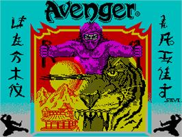 Title screen of Avenger on the Sinclair ZX Spectrum.