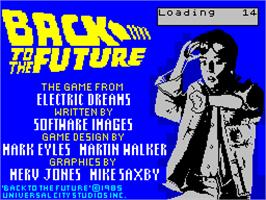 Title screen of Back to the Future on the Sinclair ZX Spectrum.