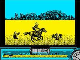 Title screen of Back to the Future Part III on the Sinclair ZX Spectrum.