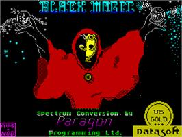 Title screen of Bank Panic on the Sinclair ZX Spectrum.