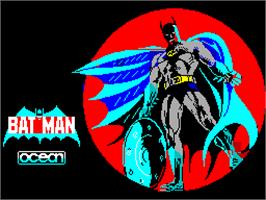 Title screen of Batman: The Movie on the Sinclair ZX Spectrum.