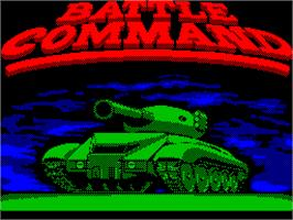 Title screen of Battle Command on the Sinclair ZX Spectrum.