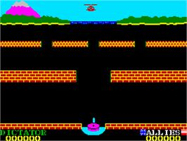 Title screen of Beach Head II: The Dictator Strikes Back! on the Sinclair ZX Spectrum.