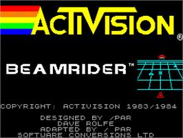 Title screen of Beamrider on the Sinclair ZX Spectrum.
