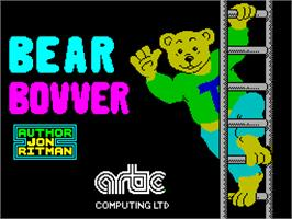 Title screen of Bear Bovver on the Sinclair ZX Spectrum.