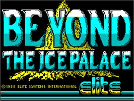 Title screen of Beyond the Ice Palace on the Sinclair ZX Spectrum.