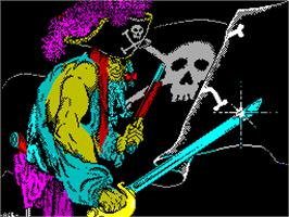 Title screen of Black Beard on the Sinclair ZX Spectrum.