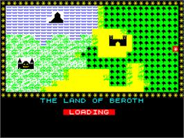 Title screen of Black Crystal on the Sinclair ZX Spectrum.