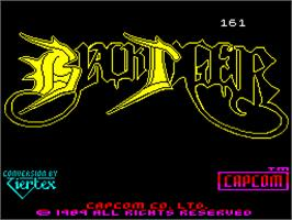 Title screen of Black Tiger on the Sinclair ZX Spectrum.
