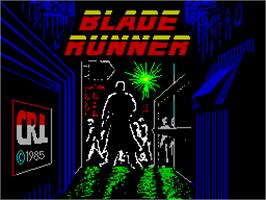 Title screen of Blade Runner on the Sinclair ZX Spectrum.