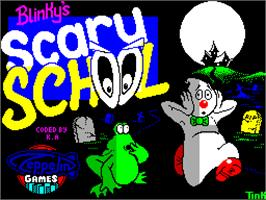 Title screen of Blinky's Scary School on the Sinclair ZX Spectrum.