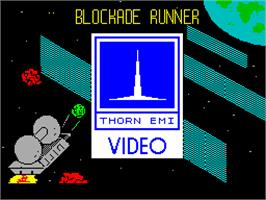 Title screen of Blockade Runner on the Sinclair ZX Spectrum.